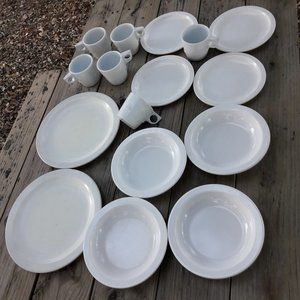 Melmac RV Dishes Camping Mugs Plates Melamine 16 p